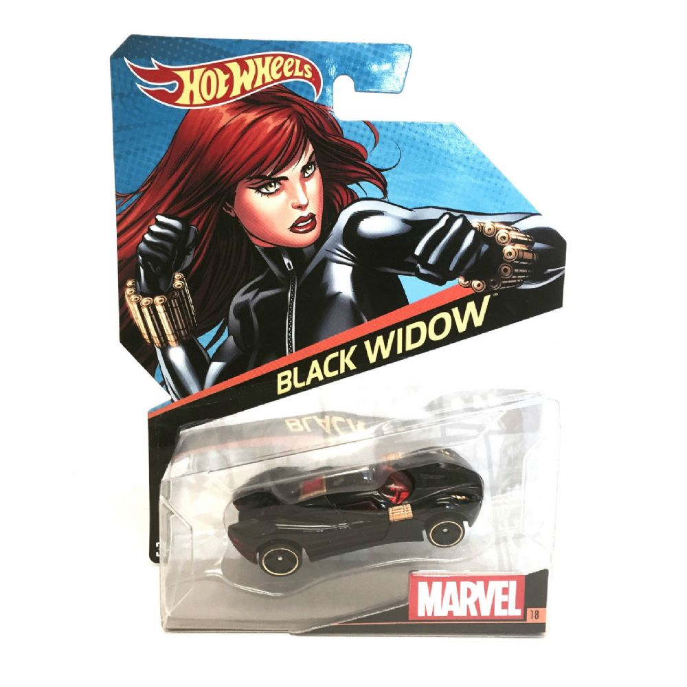 Hot Wheels Marvel Character Cars  Black Widow